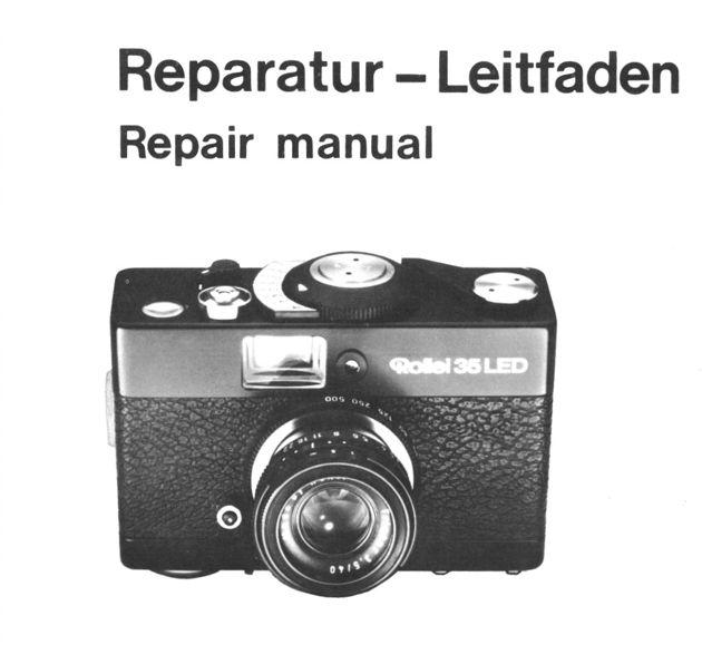 rollei repair manual 35 led film camera service manual exploded view rh ebay ca Rolleiflex Camera Digital Camera Accessories